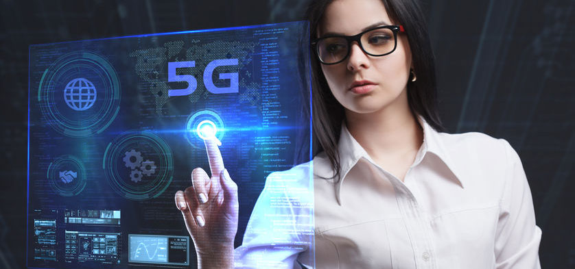 5G netværk på computerskærm